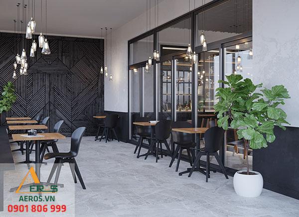 Thiết kế quán trà sữa hiện đại của anh Hùng- Trà sữa Black Tea quận 7