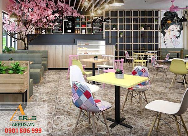 Thiết kế quán trà sữa nhỏ của chị Hương theo phong cách Nhật Bản