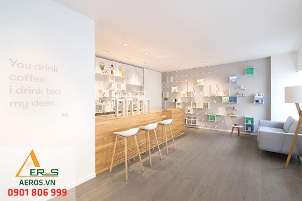 Thiết kế quán trà sữa nhỏ dễ thương chủ chị Hạnh tại quận Thủ Đức