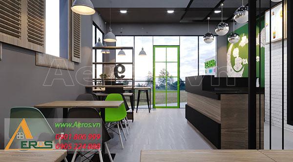 thiết kế quán trà sữa nhỏ tea house quận 6 của anh Tân