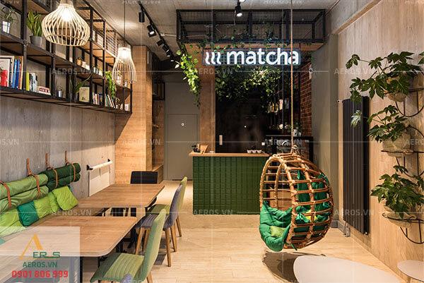 Thiết kế quán trà sữa nhỏ - Trà sữa Matcha - chị Nhung quận 2