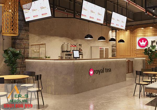 Thiết kế quán trà sữa Royal Tea chuyên nghiệp | Thi công trọn gói tại TP.HCM