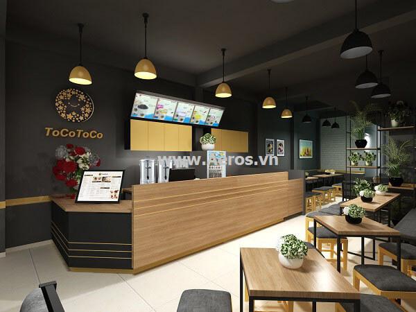 Thiết kế quán trà sữa Tocotoco tại quận 5
