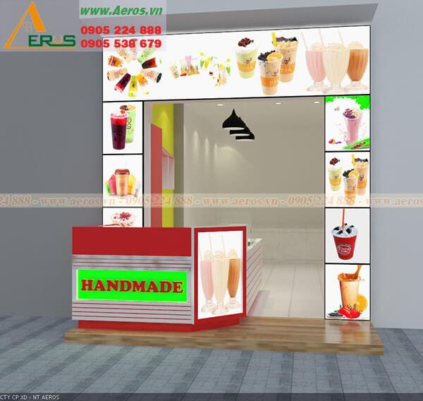Thiết kế nội thất quán trà sữa Handmade tại quận 8 TP HCM