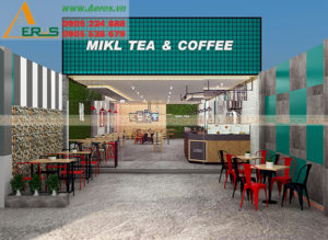 Thiết Kế Thi Công Nội Thất Quán Cafe Trà Sữa Tại Đồng Nai