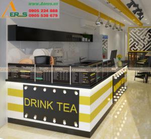 thiết kế thi công quán trà sữa chị Mai
