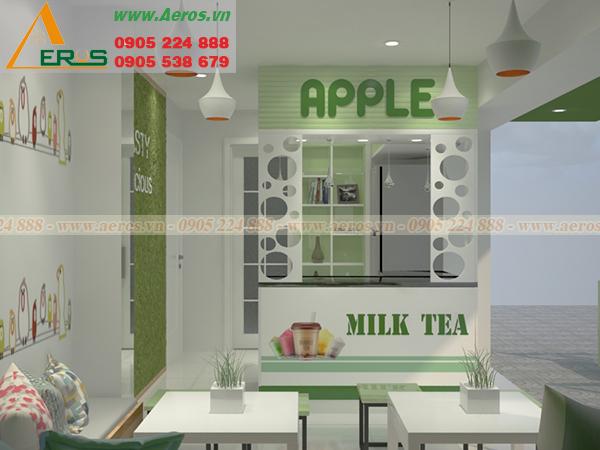 Thiết Kế Thi Công Quán Trà Sữa Chị Hương, Quận 7, TPHCM