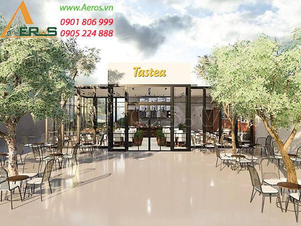 thiết kế - thi công quán trà sữa Tastea