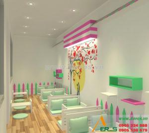 thiết kế quán trà sữa chị Ngọc