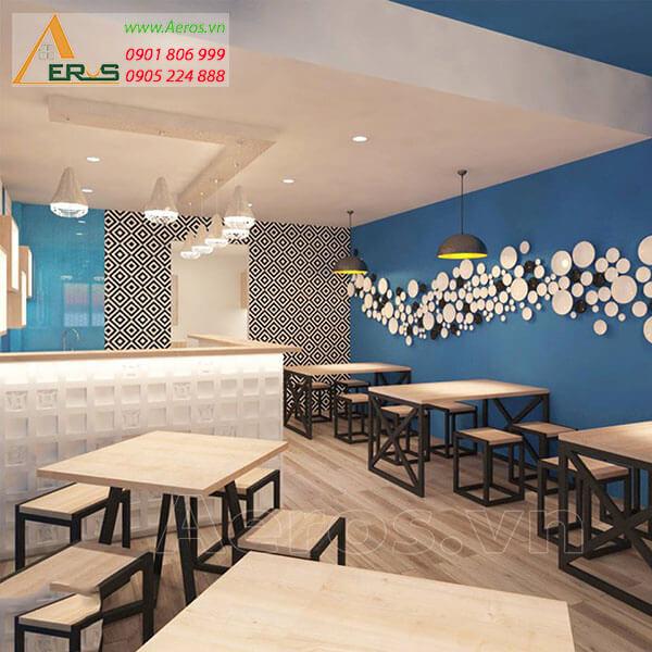 thiết kế quán trà sữa Akay