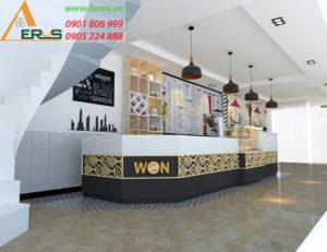 thiết kế quán trà sữa WonCha