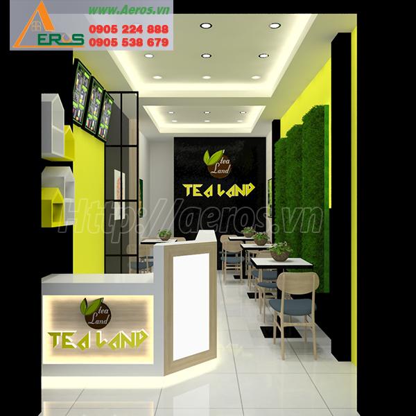 thiết kế thi công quán trà sữa Tea Land