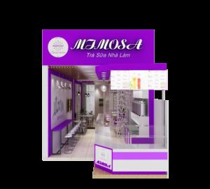 thiết kế thi công quán trà sữa Mimosa