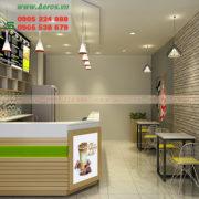Quầy quán trà sữa QTS08