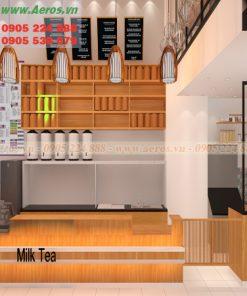 Quầy quán trà sữa QTS09