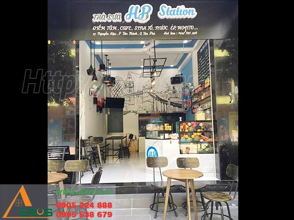 Thiết Kế Thi Công Quán Trà Sữa Hp Ở Tại Quận Tân Phú, TPHCM