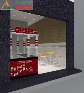 thiết kế quán kem trà sữa Cherry