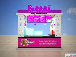 thiết kế quán trà sữa Bubbly