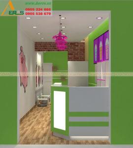 thiết kế quán trà sữa chị Châu