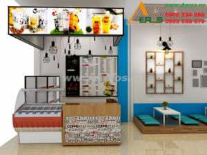 thiết kế quán trà sữa chị Thảo