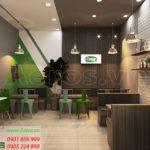 thiết kế quán trà sữa đẹp Cozy MilkTea