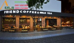 thiết kế quán trà sữa Friend Coffee