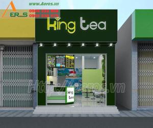 thiết kế quán trà sữa King Tea