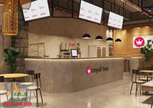 thiết kế quán trà sữa Royaltea