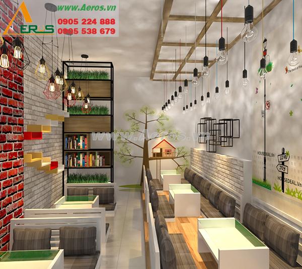 thiết kế quán trà sữa chị Nguyên