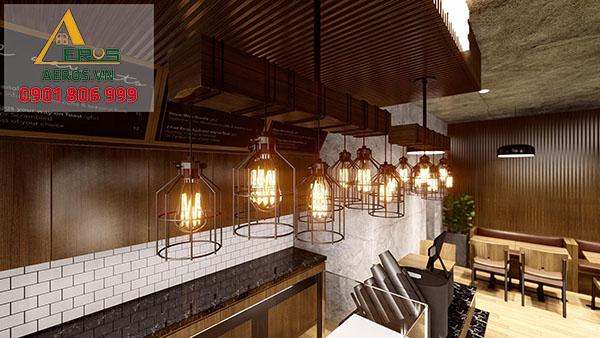 Thiết kế quán trà sữa đơn giản đẹp của chị Thanh tại Hà Nội