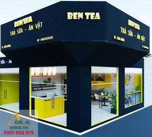 Thiết kế quán trà sữa 50m2 của anh Trung tại Dĩ An Bình Dương - Ben Tea