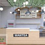 Thiết kế quán trà sữa đơn giản đẹp của chị Linh - Wantea - Tân Phú