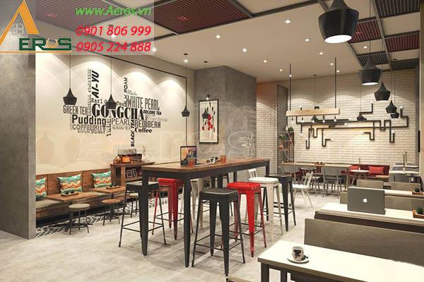 Thiết kế quán trà sữa Gong cha tại quận Phú Nhuận của anh Quân