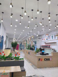 Thiết kế quán trà sữa hiện đại - Trà sữa Fuucha của anh Liêm ở Tây Ninh