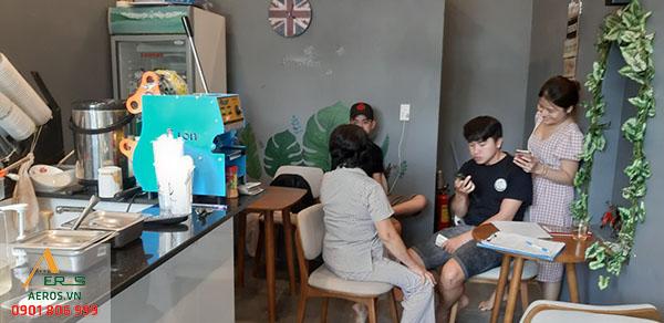Thiết kế quán trà sữa diện tích nhỏ - anh Quang - trà sữa Arora Hóc Môn